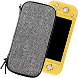 Sisma Ultra Slim Carrying Case for Nintendo Switch Lite Console - Compatible with Console and Clear Case, Gray