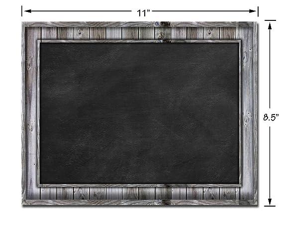 Smart Planner: Black Dry Erase Refrigerator Magnetic Chalkboard Design | Use Horizontal or Vertical as a Weekly Planner for Important Calendar Dates. ...