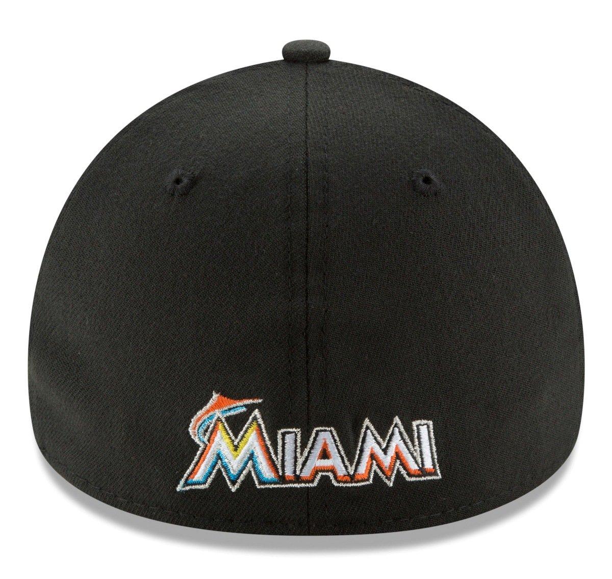 info for d1ed1 a76e6 Amazon.com   New Era Miami Marlins MLB 39THIRTY Team Classic Flex Fit Hat    Sports   Outdoors