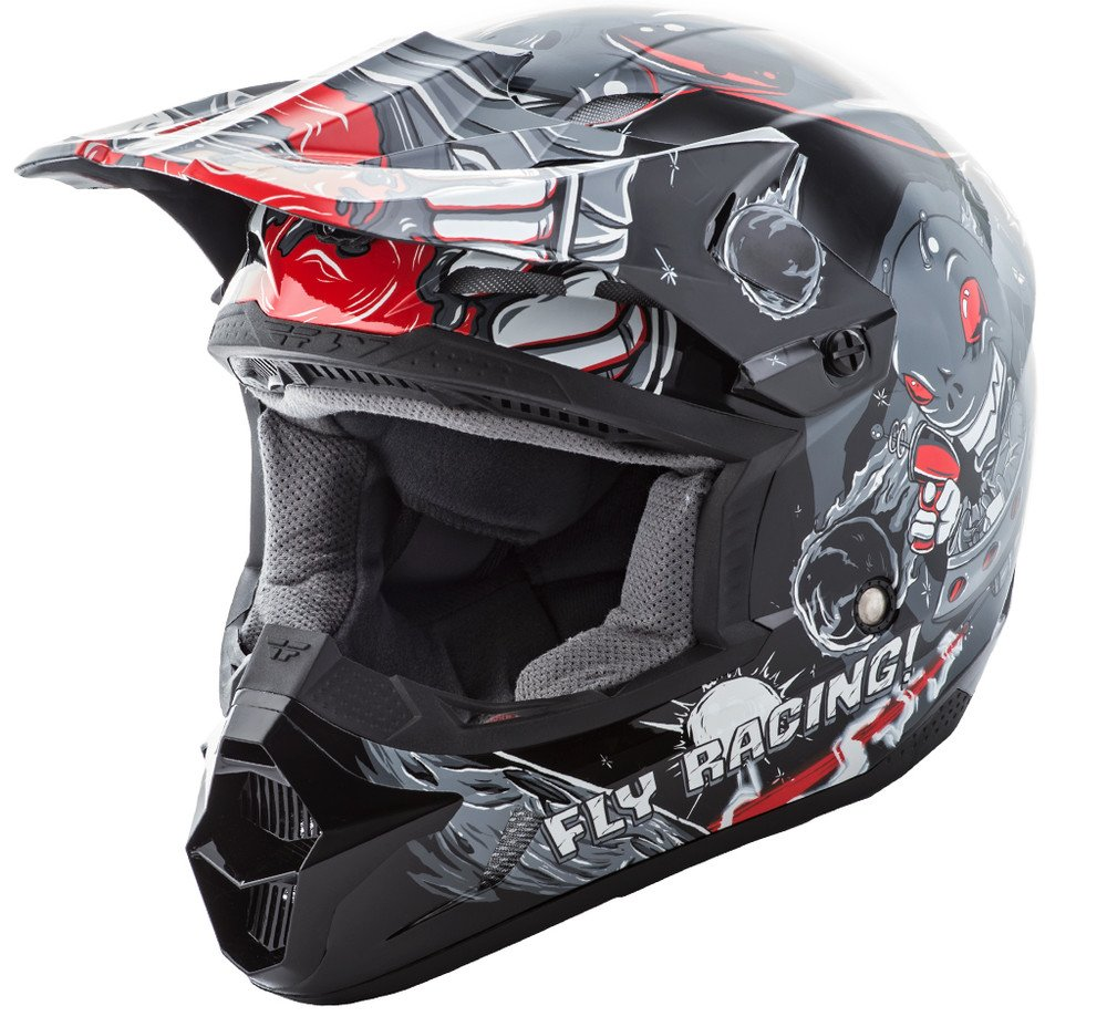 Fly Racing Unisex-Adult Full-face Style Kinetic Invasion Helmet Grey Youth Small 73-3451YS