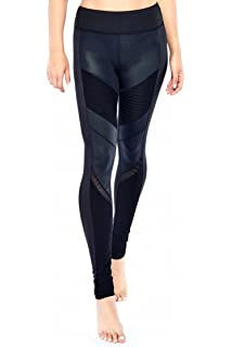 626053b007209 Electric Yoga Moto Coated Leggings High Waist Mesh Compression Pants - MSRP  $98