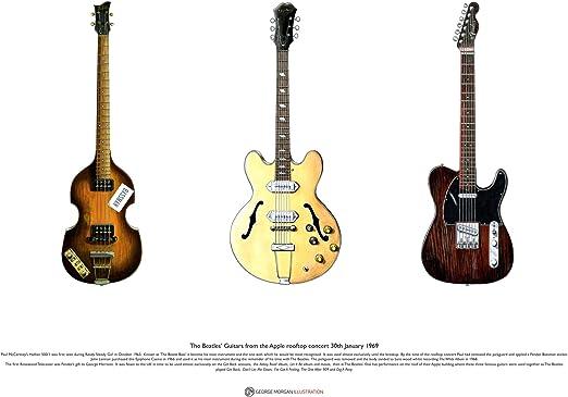 George Morgan Illustration Guitarra de los Beatles Desde el ...
