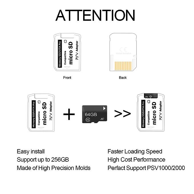 SD2VITA Pro - Adaptador Pro 5.0 para tarjeta de memoria PS VITA ...