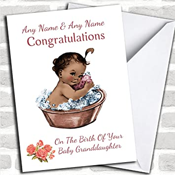 Cute black baby girl granddaughter customised new baby greetings cute black baby girl granddaughter customised new baby greetings card new baby cards new m4hsunfo