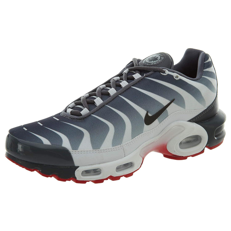 Men's Nike Air Max Plus TN WhiteDark GreySpeed Red | SE Before the Bite AQ0237 100 Boys Running Shoes AQ0237 100