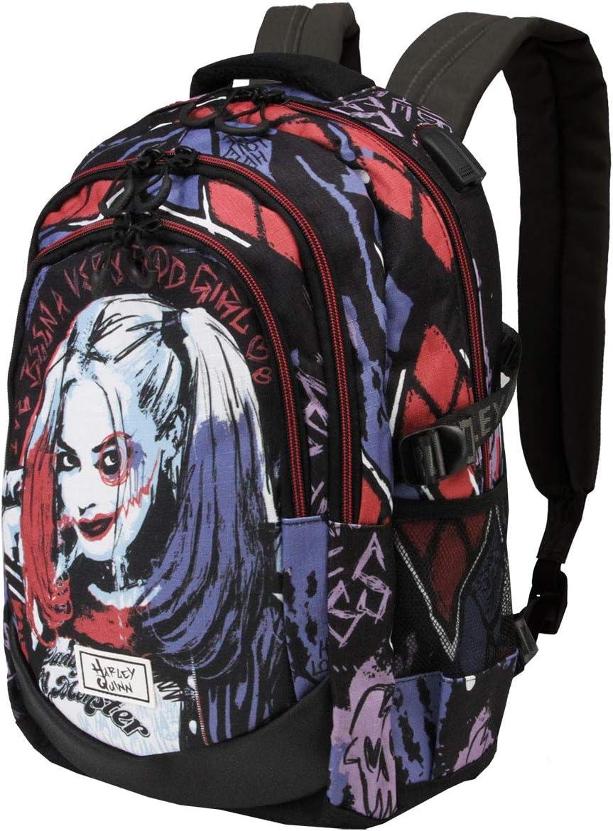Karactermania Harley Quinn Crazy - Mochila Running HS 1.2, Multicolor
