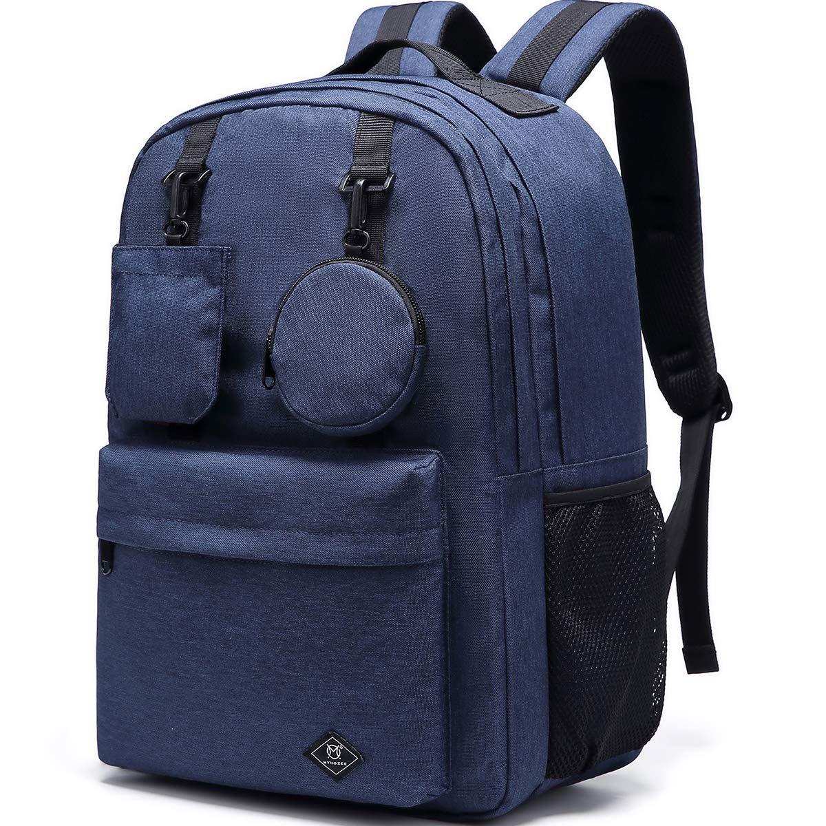 Blu Myhozee Zaino Uomo Donna Zaino per laptop 15.6 Pollici Zaino Scuola Zaini Viaggio Casual Borsa Zainetto in impermeabile Nylon Zaini Unisex Adulto Backpack Multifunzionale Daypack