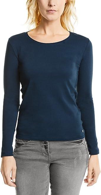 Cecil T-shirt Basic Dunkelblau