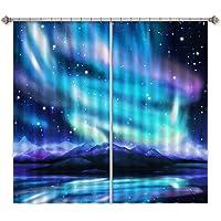 3D Beautiful Starry Sky Hills 333 Blockout Photo Curtain Print Curtains Drapes Fabric Window | 3D Large Photo Curtain, AJ WALLPAPER AU Summer (264cmx213cm(WxH)【104''x 83''】)