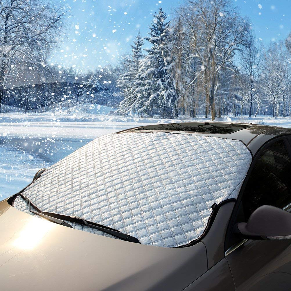 Fits Trucks SUVs and RVs Flylet Car Windshield Snow Cover /& Sun Shade Protector