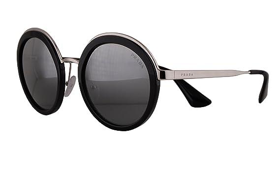 bbbe2ddea4d8 Prada PR50TS Sunglasses Black Silver w Grey Mirror Silver Gradient 54mm  Lens 1AB6N2 SPR50T PR 50TS SPR 50T  Amazon.co.uk  Clothing