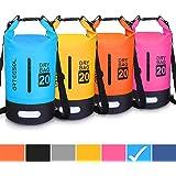 Blackace Dry Bag, 5L 10L 20L 30L WaterProof Dry Bag/Sack Waterproof Bag with Long Adjustable Strap for Kayaking Boat Tour Canoe/Fishing/Rafting/Swimming/Snowboarding