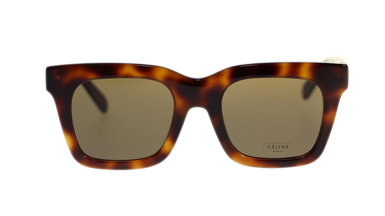 c836915d43e7 Amazon.com  Celine Women Square Sunglasses CL41411 05L Havana Brown Lens  50mm Authentic  Clothing