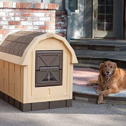 ASL Solutions Deluxe Insulated Dog Palace 38.5 x 31.5 x 47.5
