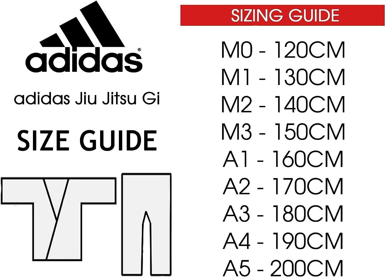 Azul adidas Martial Arts BJJ Response Uniform 265g Jiu Jitsu Artes Marciales Gii Unisex Adulto A3