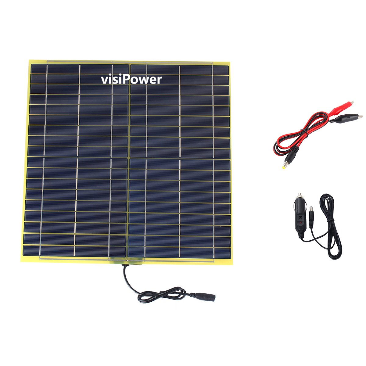 YZY TECH visiPower 15W 18V 850mA Glass Fiber Solar Cell Solar Panel For 12V Car Battery Charger