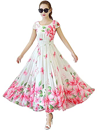 3e7ca0468 Snapdeal Women s Indo-western Gown Kurti Dress wtih Stitched Free Size  (BL-45 white Pink Free