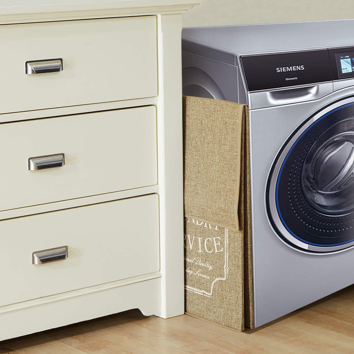 Bedroom Slim Tall Foldable Cloth Hamper for Closet College Dorm XL ...