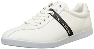 Calvin Klein Jeans Men's AVI Matte Smooth LowTop Sneakers Multicolour  Size: 11 UK