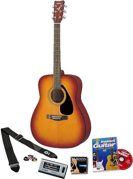 Yamaha F310 - Guitarra acústica con set para principiantes (tamaño ...