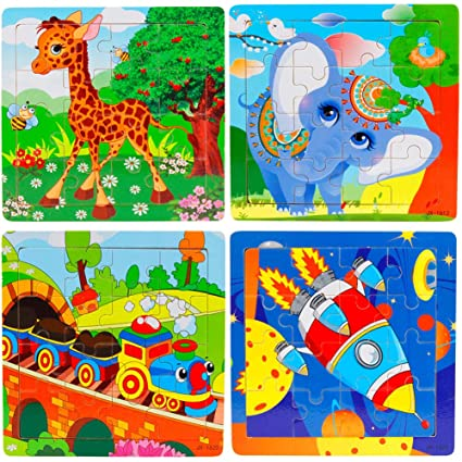 Wooden Jigsaw Puzzles Set For Kids Age 2 5 Year Old Animals Preschool Puzzles For Toddler Children Learning Educational Puzzles Toys For Boys And
