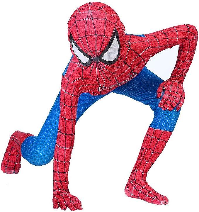 Amazon.com: Disfraz de superhéroe para niños, de licra y ...