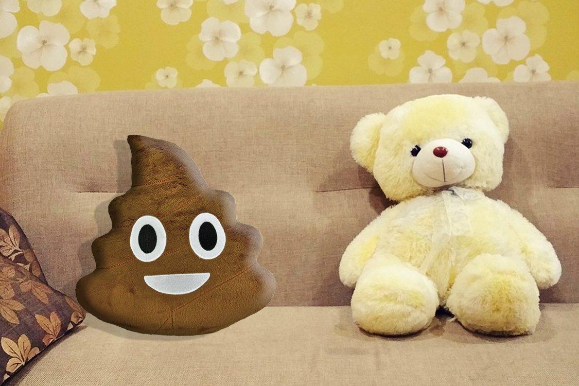 "Amazon.com: Farting sonido caca Emoji almohada – 14"" ..."
