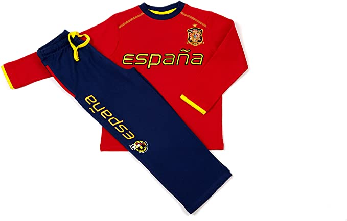 SELECCIÓN ESPAÑOLA - Pijama, Color Rojo Y Azul, Talla Xxl: Amazon.es: Ropa y accesorios