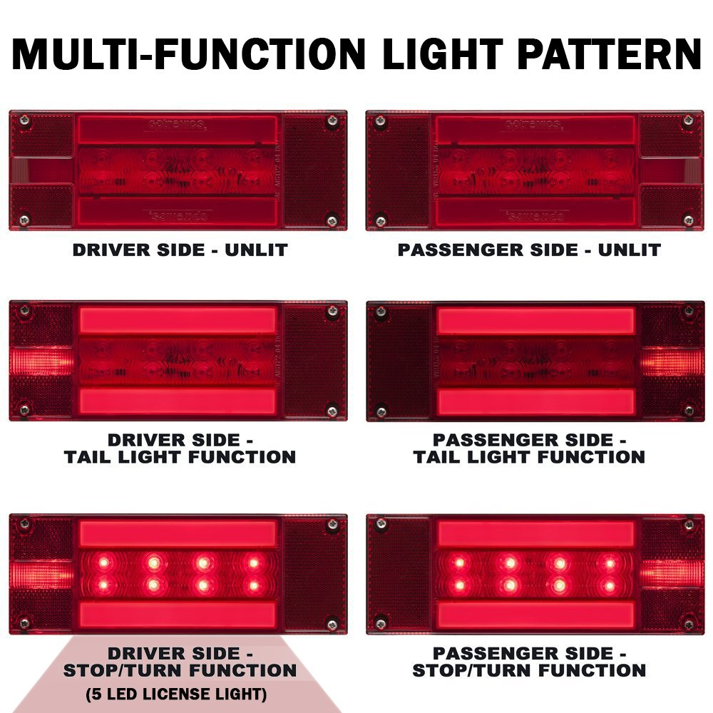 Optronics Tll170rk Red Rectangular Combination Tail Trailer Light Wiring Diagram Kit Automotive