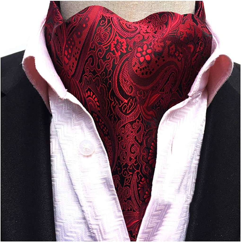 Mens Cravat Self Tie Paisley Jacquard Woven Luxury Ascot