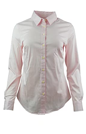 Banana Republic Women s Tailored Non-Iron Button Down Shirt Pink at ... b5cde29d0