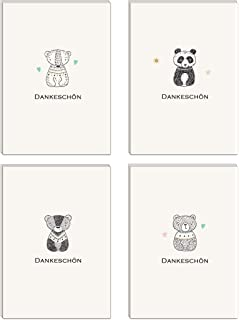 20 Karten 20 Umschlage Klappkarten Dankeskarten Dreiecke Din A6