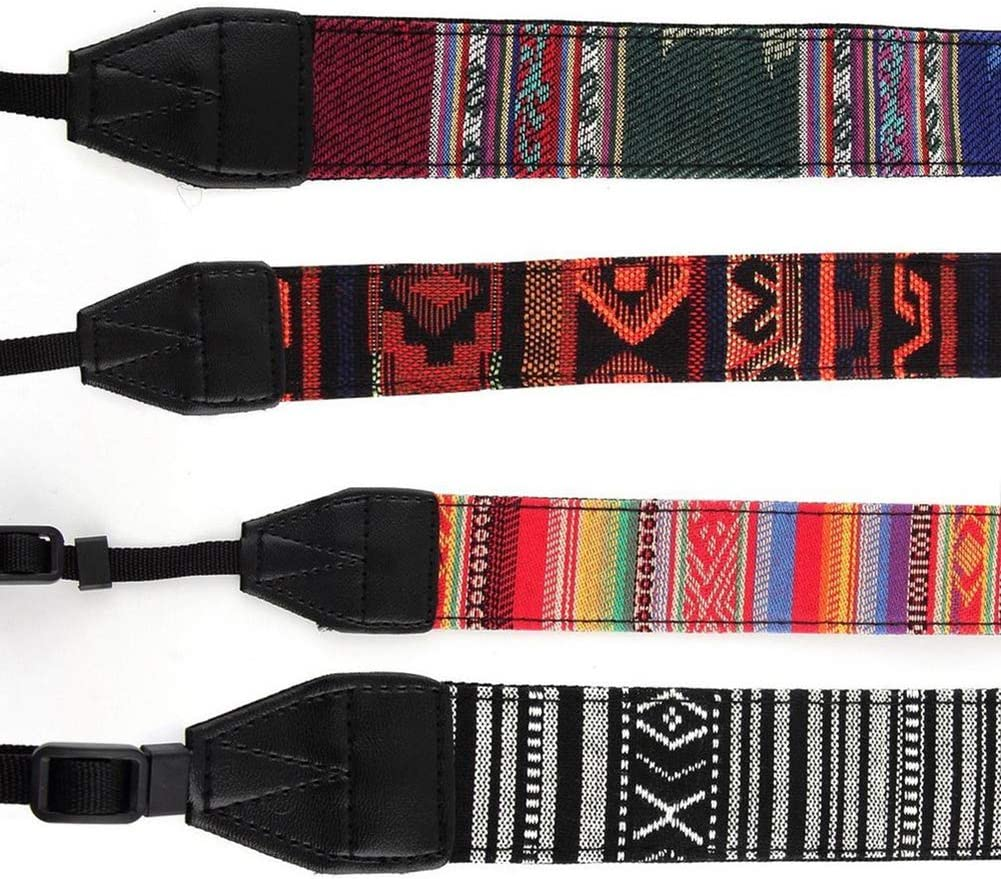 vOPRvana1n Retro Ethnic Widened Shoulder Strap Camera Strap SLR Camera Strap for Nikon Canon Sony Panasonic SLR DSLR 6