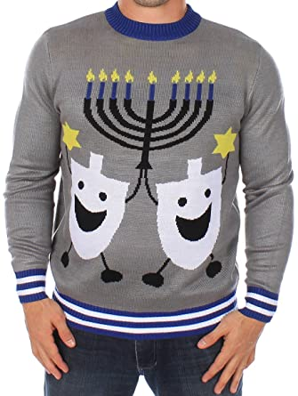 Ugly Christmas Sweater - Hanukkah Sweater by Tipsy Elves at Amazon ...
