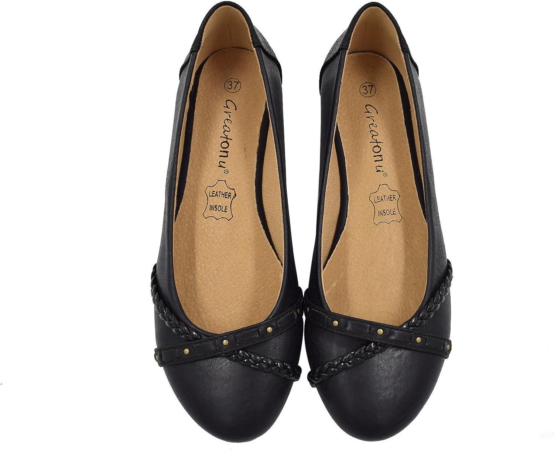 Greatonu Women Shoes Classic Slip On Ballet Flats