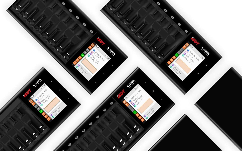 ISDT Akku Ladeger/ät Wiederaufladbare Batterien NiMH AA//AAA NI-MH NI-Cd Li-lon LiHv NI-MH NI-Cd LiFePO4 Eneloop Akkus inkl 24-Fach Batterieladeger/ät mit /Überladeschutz Sicherheits-Timer