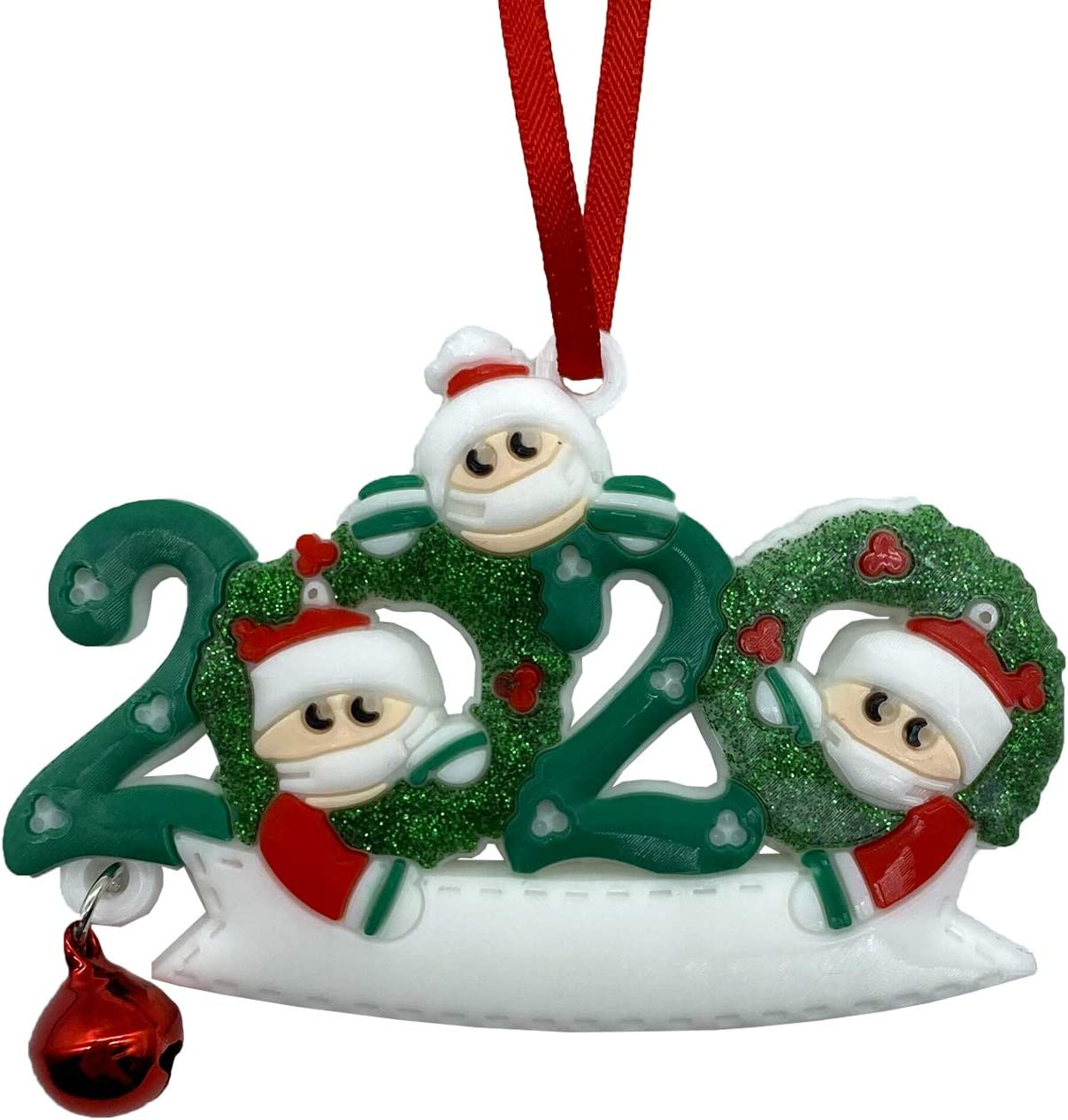 Lechay 2020 Christmas Ornaments, Merry Christmas Decorations Newest Theme Creative Gift Tree Ornament Kit Hanging Accessories for Home Indoor Outdoor Decor (Family of 3)