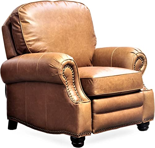 BarcaLounger Longhorn II Recliner Chair Chaps Saddle Top Grain Leather Chair