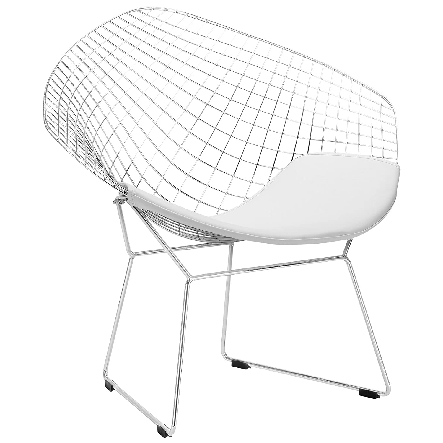 Cool Poly And Bark Morph Lounge Chair In White Bralicious Painted Fabric Chair Ideas Braliciousco