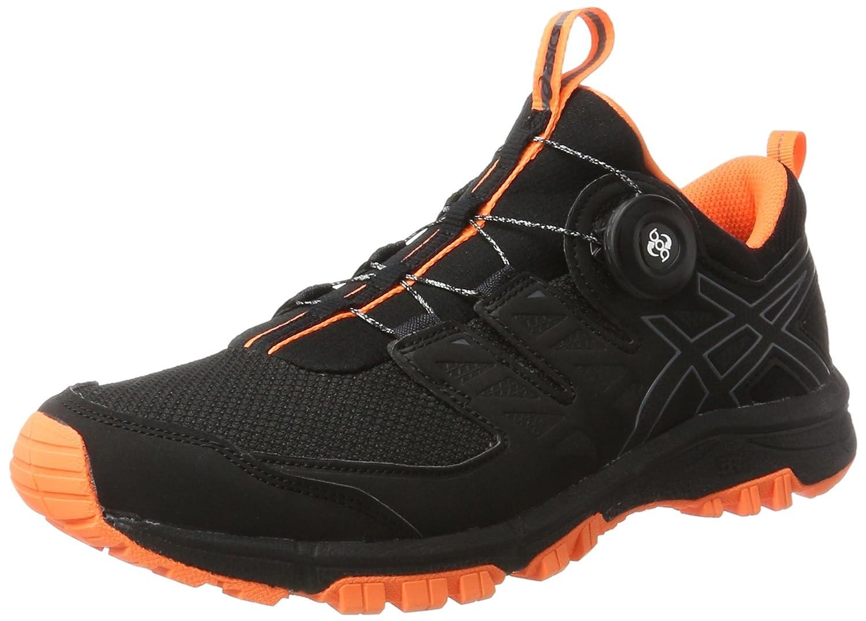 Asics Gel-Fujirado, Zapatillas de Entrenamiento para Hombre 41.5 EU|Multicolor (Black/Carbon/Hot Orange)