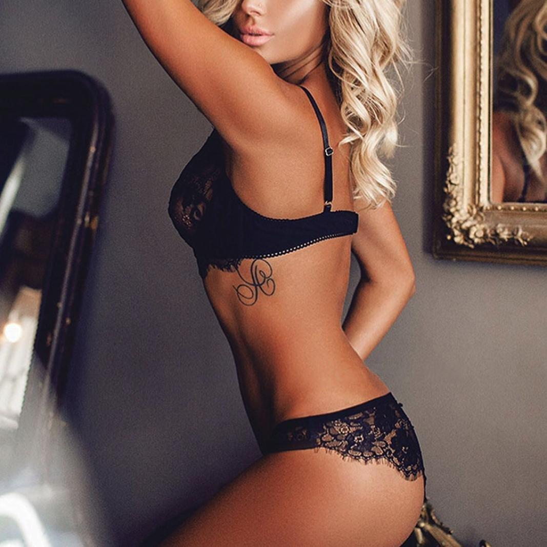78d27257c7 Amazon.com  Gocheape WomenTempting Sexy Lace Lingerie Bodice Lingerie Set  Underwear Girl Bodysuit  Clothing