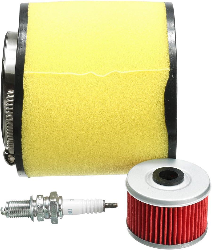 C-FUNN Filtre /À Air Filtre /À Huile Spark Plug Kit pour Honda Fourtrax 300 2X4 /& 4X4 Trx300//Fw