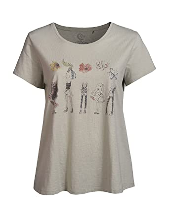0c7ec4ff8aee THEA by Adler Mode Damen Shirt mit Stickerei Am Ärmel - Top, T-Shirt ...
