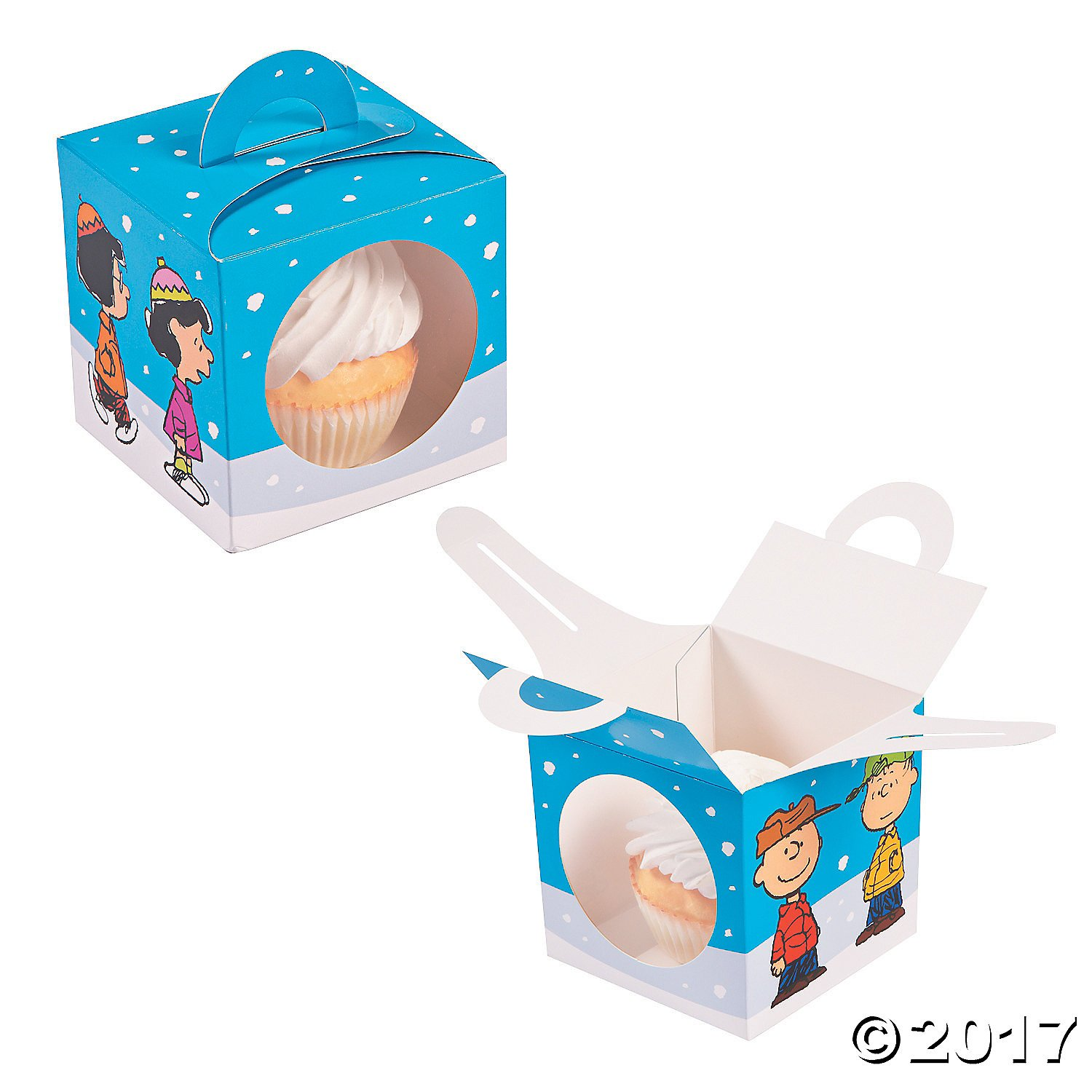 Peanuts Characters Christmas Cupcake Boxes 12 Pack