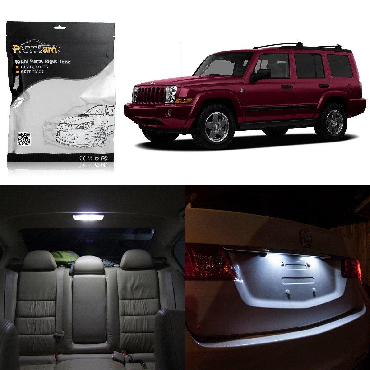 For Jeep Commander 2006-2010 Blue LED Interior Kit Blue License Light LED