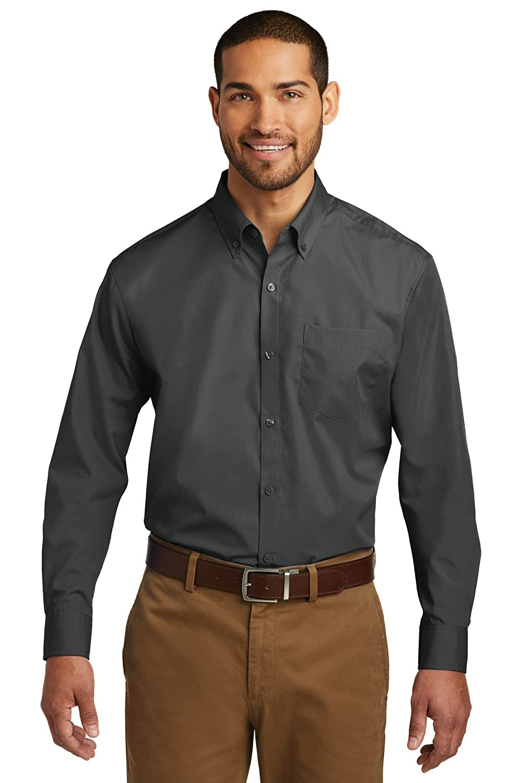 Port Authority Mens Long Sleeve Carefree Poplin Shirt