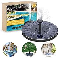 Solar Fountain, Fuente Solar, Solar powered fountain Conecte diferentes boquillas para rociar diferentes tipos de agua, Adecuado para jardines, Pequeños estanques y otros lugares