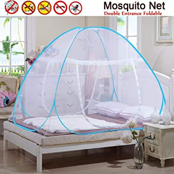 Netting Moskitonetz Bett Baldachin Pop Up Faltbare doppelte T/ür Anti Mosquito Bites Mongolisches,A,150x200cm