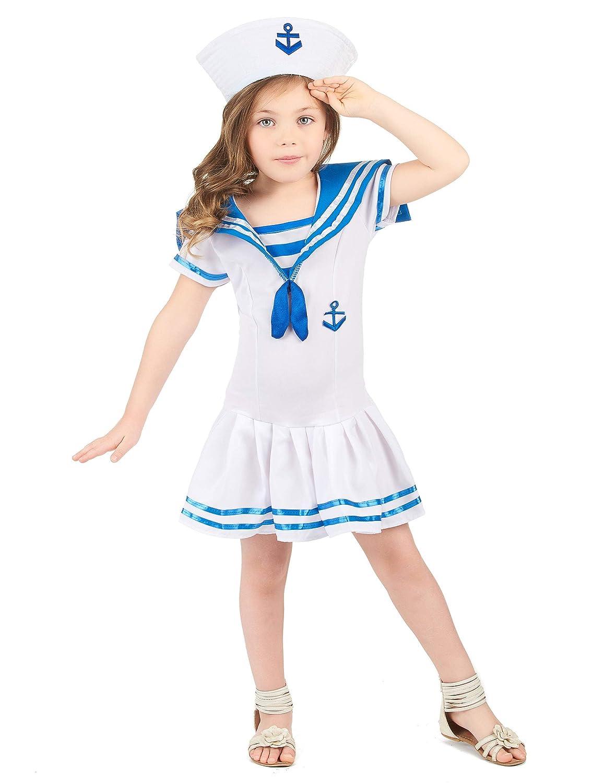 Disfraz marinero niña - 7 - 9 años: Amazon.es: Juguetes y juegos