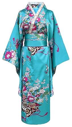 d6442decaf6d57 Japanischer geisha Kimono türkis mit: Amazon.de: Elektronik